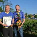 Zdeněk a Jaryn s oceněním za sportovní kolektiv 2015