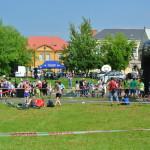 Závodům dominuje zázemí Holešovských Pokalíšků