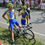 Libuš s týmovým kolegou Pavlem před závodem