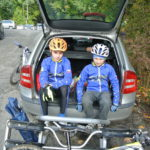 Jarda a Tom po příjezdu na Ploštinu