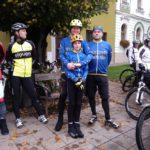 Fryšták a bikeři na zdejším náměstí