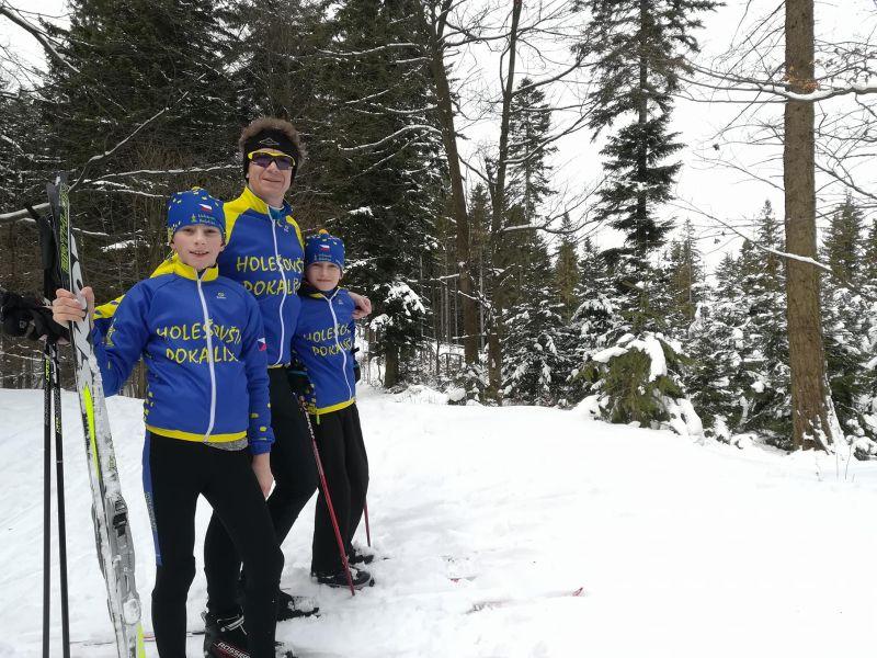 Naši sportovci po 8 km běhu na lyžích