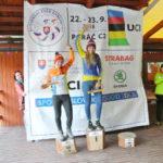 Libuš vítězí na trati XCO v Poráči