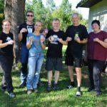 Posádka Holešovských Pokalíšků - Kája (Fifinka), Dan (Myšpulín) s Peťkou, Tom (Bobík), Jaryn (Pinďa) s Renatou