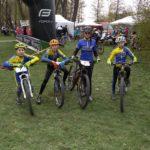 Společné foto závodníků z Hulína - Filip, Jarda, Verča a Tom