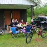 Snídaně před bungalovem